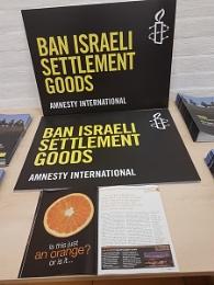 Ban Israeli Settlement Goods