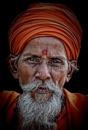 Old man of Haridwar by sawsengee