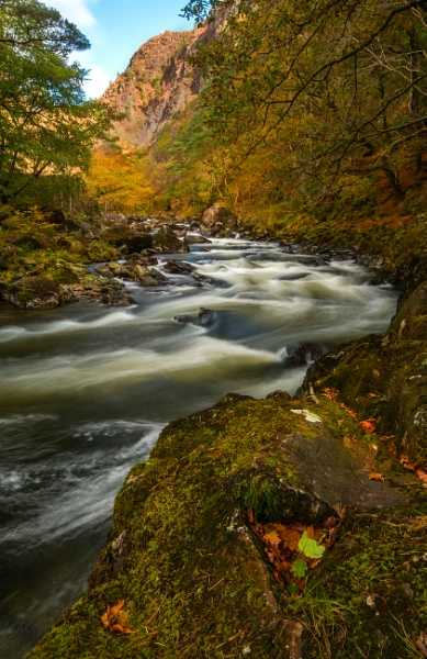 Autumn on the Aberglasyn by Brenty