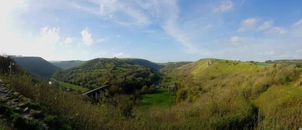 Monsall Dale panorama