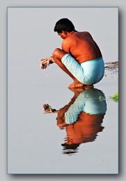 *** Morning Washing In River Ganges ***