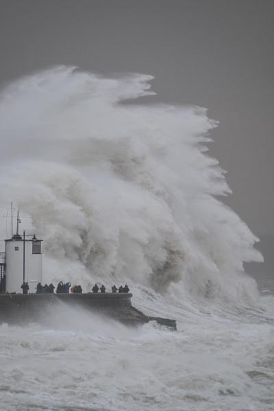 Storm Brian, Porthcawl by CrustyPics