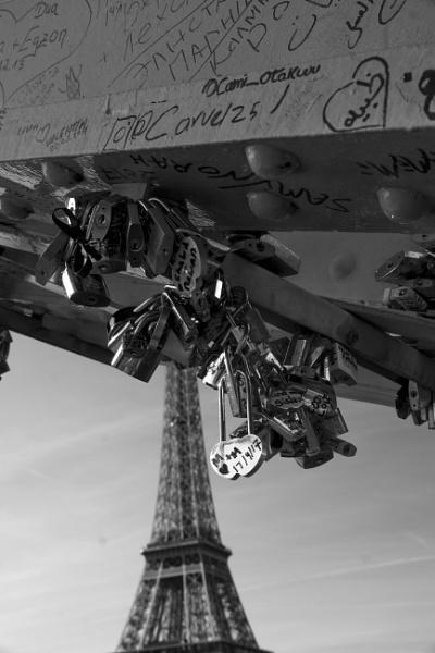 Parisian Love Locks by billgoco