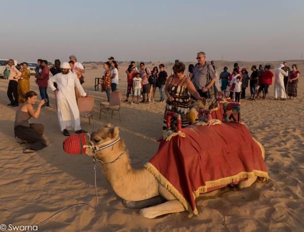 Tourist at Desert Safari - Dubai by Swarnadip