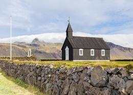 Budir black church on the Snæfellsnes peninsula in western Iceland.