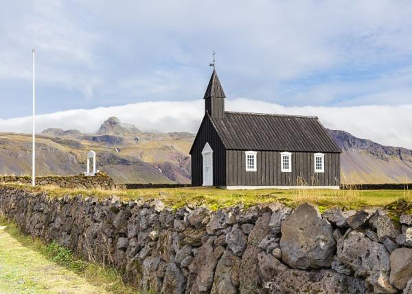 Budir black church on the Snæfellsnes peninsula in western Iceland. by pdunstan_Greymoon