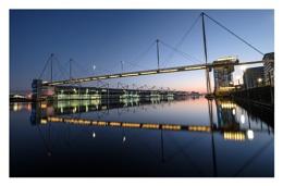 Reflections of the morning at Royal Victoria Dock..