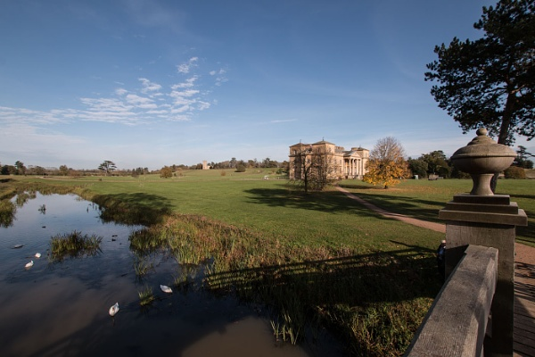 Croome Court.viewed from Chinese Bridge by Janetdinah