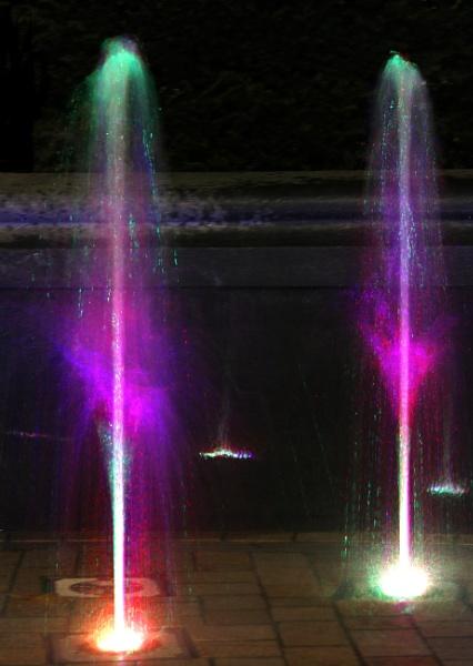 night fountain #3 by babajoshua