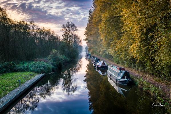 Slumbering Canal Boats by MonochromeTear