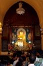 Buddha statue at Mahabodhi Stupa, Bodhgaya, India by debu