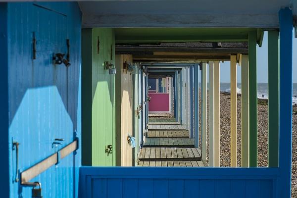Beach Huts, Rustington, Sussex, UK by jon07wilson