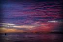 Felixstowe sunset by vivdy