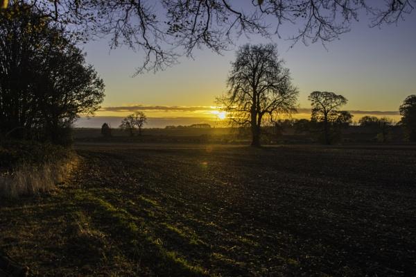 Sun Rise Over Clowne - Derbyshire by Saab93