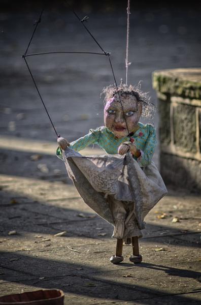 Dancing Puppet Hebden Bridge by iangilmour