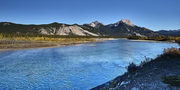 The Athabasca River, Jasper, Alberta, Canada.