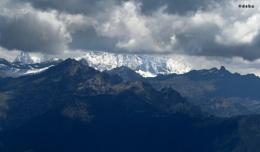 Mountain Peaks as seen from Bhutan