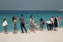 Tourists at Jumeirah Beach - Dubai by Swarnadip