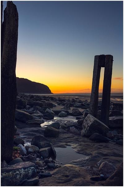 Conwy coast. by Satlight