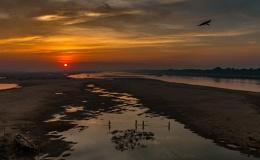 Sunrise - River Damodar, Burdwan