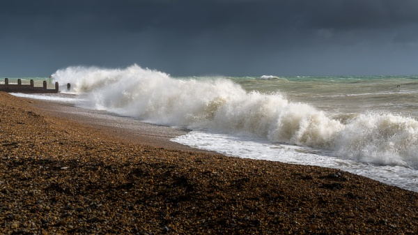 EASTBOURNE, EAST SUSSEX/UK - OCTOBER 21 : Tail End of Storm Bria by Phil_Bird