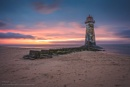 Last Light At The Lighthouse by Porthos