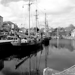 At anchor.