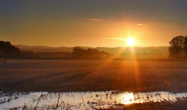 Midlothian sunrise by Eckyboy