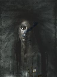 portrait with a drop of vodka