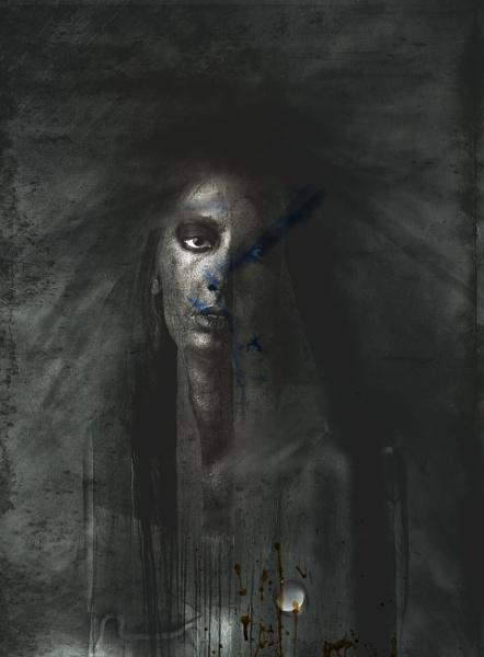 portrait with a drop of vodka by weron