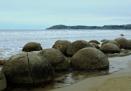 Moeraki Boulders New Zealand by Janetdinah