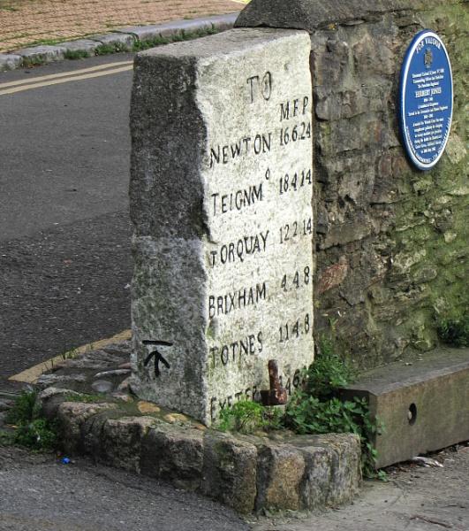 Kingswear milestone by oldgreyheron