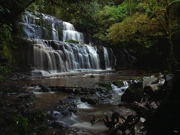 Purakaunui Falls 4 by DevilsAdvocate