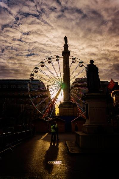 ferris wheel sundown by meyeview