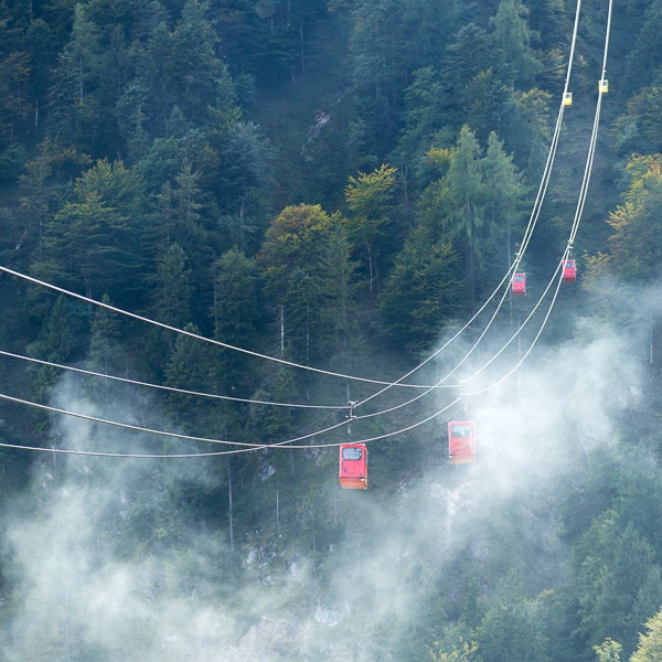 Zwölferhorn Mountain Cable Car Running down to St Gilgen by Phil_Bird