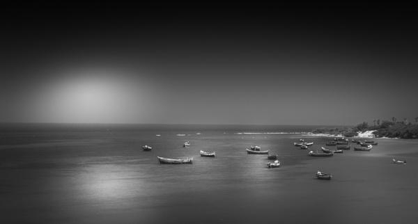 Fishing boats at Kanyakumari by bobbyl