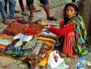 Sales woman selling  jewelry by debu