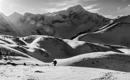 Climbing the Himalayas.