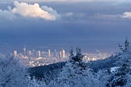 Wintery above Frankfurt