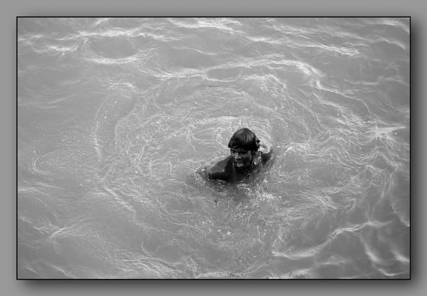 *** Morning dip in the Ganga River *** by Spkr51