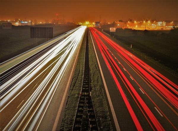 MISTY EVENING LIGHT TRAILS by PentaxBro