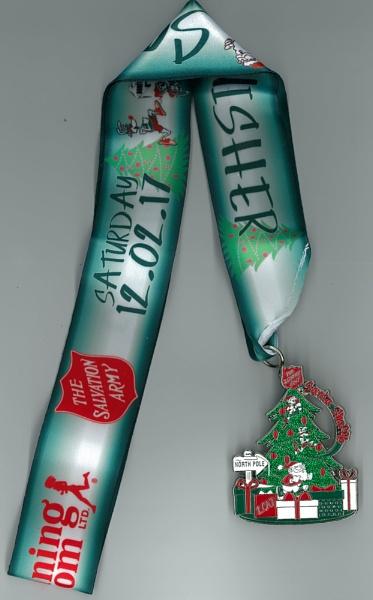 Finish Medal for the Hamilton\'s Ontario (Santa Shuffle) by TimothyDMorton