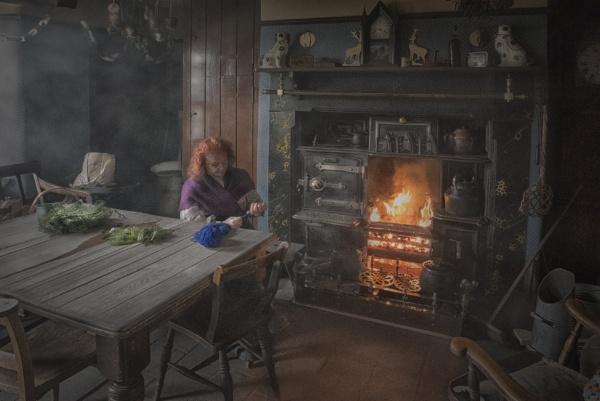 Knitting by the Fire by Gavin_Duxbury