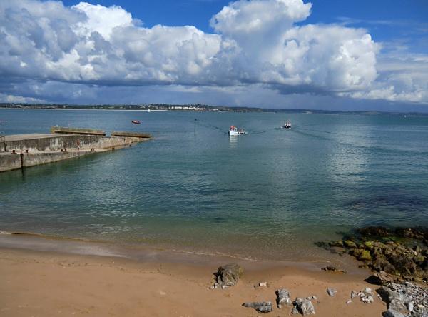 Approaching Caldey Island