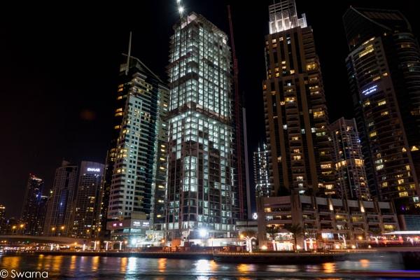 Dubai Marina at Night by Swarnadip