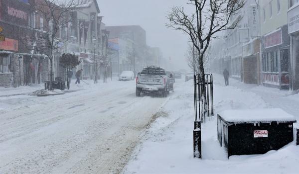 Snowy main Street by djh698