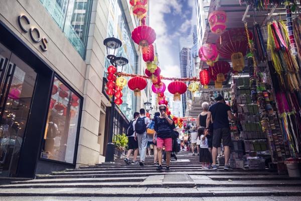 Red Lanterns Hang by manicam