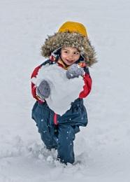 First childhood snow
