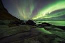 Aurora at Uttakleiv Beach, Lofoten Islands