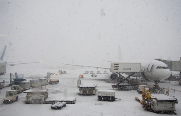 White out, Schiphol las Monday